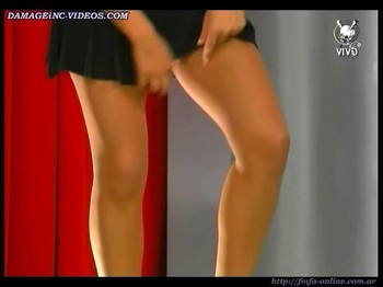 Rocio Marengo shows her sexy legs in mini skirt
