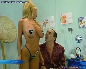 Sabrina Pettinato busty nurse striptease