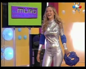 Luisana Lopilato curvy body in silver catsuit