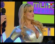 Gabriela Mandato big boobs cleavage