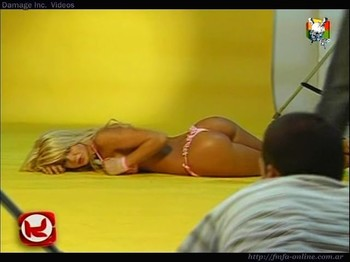 Jesica Cirio ass up in thong backstage