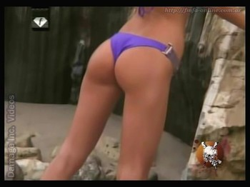 Lucila Gonzalez superb ass in blue thong