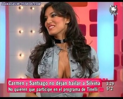 Silvina Escudero busty cleavage bunette