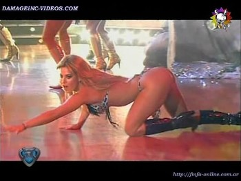 Jesica Cirio ass up crwaling in thong dogy style