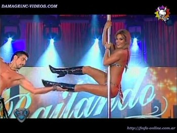 Jesica Cirio hot pole dance in lingerie