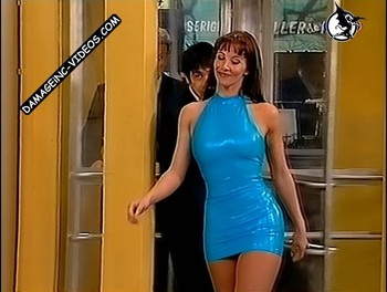 Paola Bonifacio hot body in latex dress