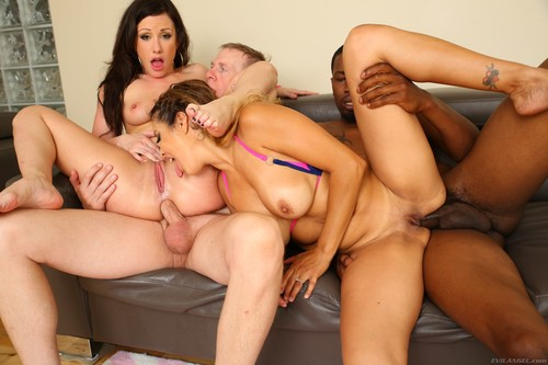 Evil Angel - Jennifer White, Francesca Le (Interracial DP Wife Swap Foursome!)