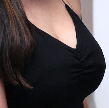 Naked fat actress Madhulagna Das big boobs low neck top