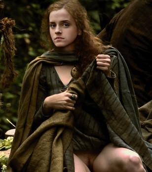 Emma Watson pantyless upskirt