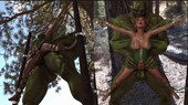 Fairy and the orc 3D GIF from Daywalker