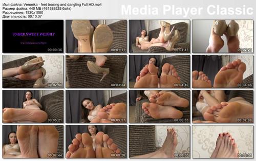 Veronika - feet teasing and dangling Full HD