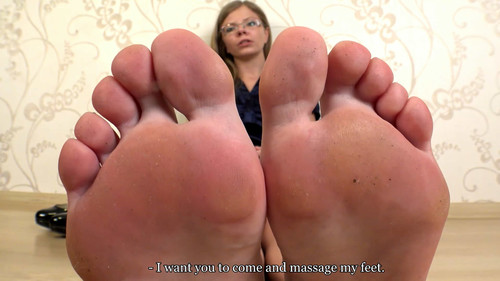 Yvonne - crushed by his own secretary (POV) Full HD