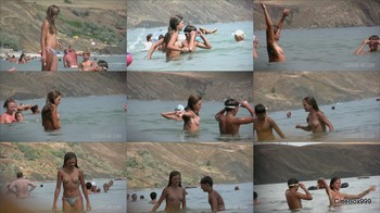 CANDID-HD. Nude Beach. Sister & Brother. Part-1.