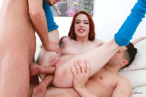 LegalPorno.com - Anna de Ville in anal threesome with DP & DAP SZ1957
